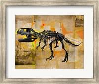 T Rex Skeleton Collage Fine Art Print