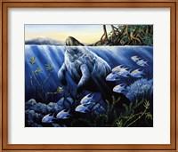 Surfacing Manatee Fine Art Print