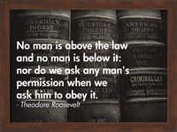 No Man Is Above the Law Fine Art Print
