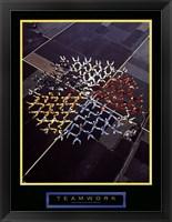 Teamwork - Skydivers Fine Art Print