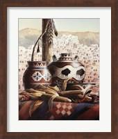 Southwest Pottery with Corn Fine Art Print