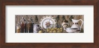 Assorted Jars and Plates Fine Art Print
