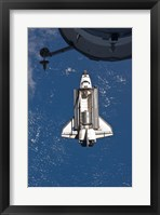 STS-135 Atlantis approaches the ISS Fine Art Print