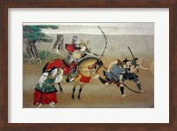 Illustrated Story of Night Attack on Yoshitsune's Residence At Horikawa, 16th Century Fine Art Print