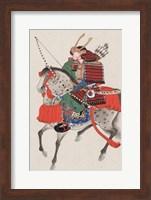 Samurai on horseback Fine Art Print