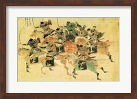 Samurais on horseback Fine Art Print