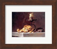 Willem Van Aelst  Still Life with Mouse and Candle Fine Art Print