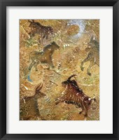 Cave Painting ( Embossed with raised texture) Fine Art Print