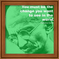 Gandhi - Change Quote Fine Art Print