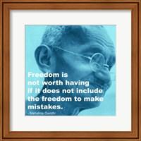 Gandhi - Freedom Quote Fine Art Print