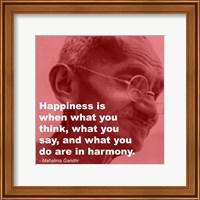 Gandhi - Happiness Quote Fine Art Print