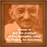 Gandhi - Thoughts Quote Fine Art Print
