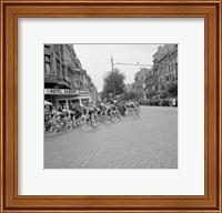 Cyclists in action tour de france 1960 Fine Art Print