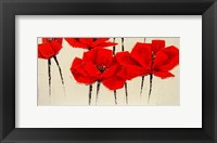 Abstract Red Poppies Fine Art Print
