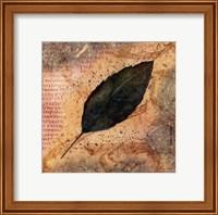 Antiqued Leaves IV Fine Art Print