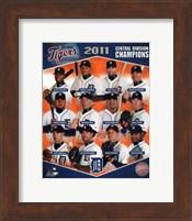 Detroit Tigers 2011 AL Central Champions Composite Fine Art Print