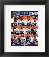Detroit Tigers 2011 AL Central Champions Composite Fine Art Print