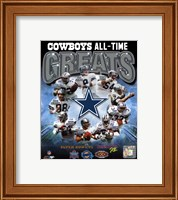 Dallas Cowboys All Time Greats Composite Fine Art Print