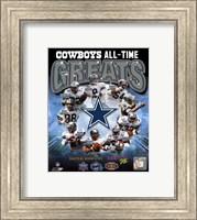 Dallas Cowboys All Time Greats Composite Fine Art Print