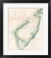 1873 U.S. Coast Survey Chart NJ and the Delaware Bay Fine Art Print
