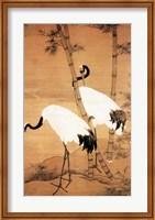 Bian Jingzhao Bamboo and Cranes Fine Art Print