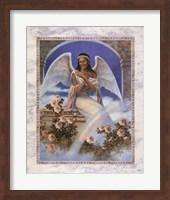 Black Angel with Rainbow Fine Art Print
