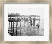 Hauling the Nets, Young's Pier, Atlantic City, NJ Fine Art Print