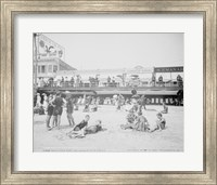 Boardwalk from the beach, Atlantic City, NJ Fine Art Print