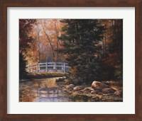 Foot Bridge in the Woods Fine Art Print