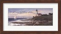 Lighthouse - Dawn (verse) Fine Art Print