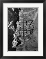 Dam structure as seen from skip on 150-ton cableway. View is made on center line of structure from elevation 1000 Fine Art Print