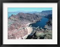 Hoover Dam aerial view Fine Art Print