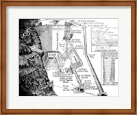 Hoover Dam Diagram Fine Art Print