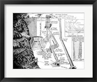 Hoover Dam Diagram Fine Art Print