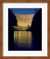 Hoover Dam at night Fine Art Print