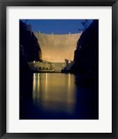 Hoover Dam at night Fine Art Print