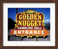Golden Nugget historic casino sign in the Neon Boneyard, Las Vegas Fine Art Print