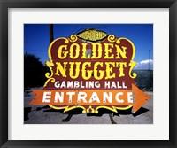 Golden Nugget historic casino sign in the Neon Boneyard, Las Vegas Fine Art Print
