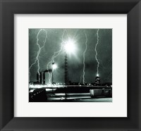 Lightning storm over Boston - 1967 Fine Art Print