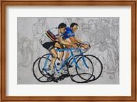 Murales coppi bicycles Fine Art Print