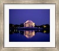 Jefferson Memorial Lit At Dusk, Washington, D.C., USA Fine Art Print