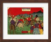 Hiroshige polo Fine Art Print
