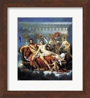 Jacques - Louis David Aphrodite Ares Graces Fine Art Print