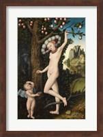Lucas Cranach the Elder - Cupid complaining to Venus Fine Art Print