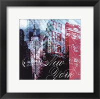 New York Stamps - mini Fine Art Print