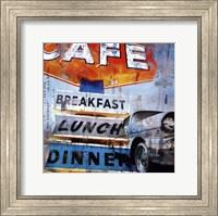Breakfast Cafe - mini Fine Art Print