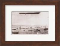 Zeppelin - B&W in the air Fine Art Print