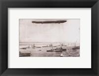 Zeppelin - B&W in the air Fine Art Print