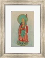 Buddha Standing on a Lotus Fine Art Print