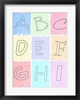 Alphabet I Fine Art Print